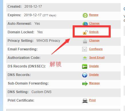 解锁域名的安全锁