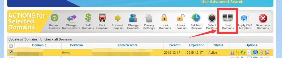 域名过户(push domains)